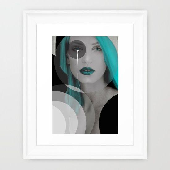 Blue+Angel+Framed+Art+Print+by+Müge+Başak+-+$33.00
