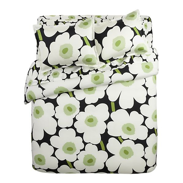 "# Marimekko duvet cover  Designed in 1964 by Maija Isola, the Unikko (""poppy"") design has been the most popular Marimekko print since its introduction."