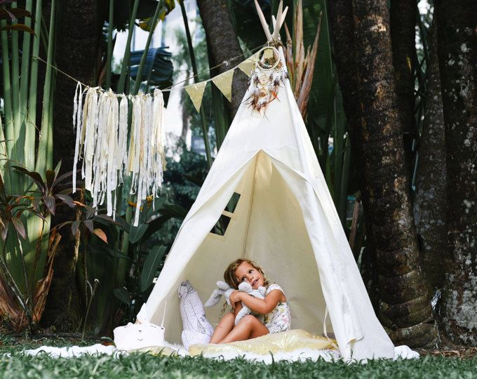 Ready to ship - Natural Canvas Teepee Play Tent Play House Nursery & 10 best Etsy Shop - Kids Teepee Malaysia on Etsy images on ...