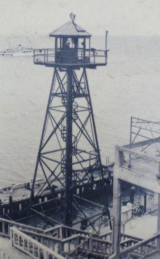 Guard tower at Alcatraz 1950