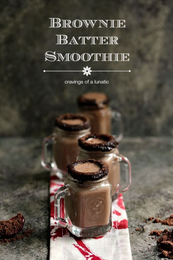 Brownie Batter Smoothie from cravingsofalunatic.com- This Brownie Batter Smoothie is so simple to make. Your kids will love this one. (@CravingsLunatic)