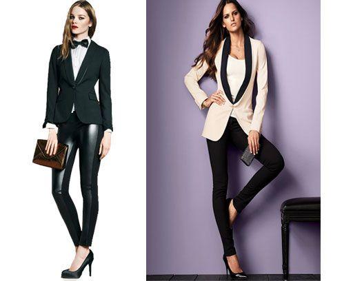 Ellas En Traje Y Corbata - Belleza Y Moda - Estampas