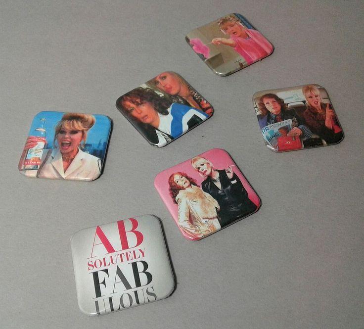 "Absolutely Fabulous aka AB FAB 1.5"" Fridge Magnets BBC TV Series"