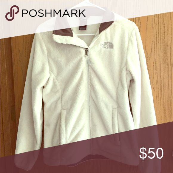 White North face jacket, new! White fuzzy small North Face Jacket The North Face Jackets & Coats