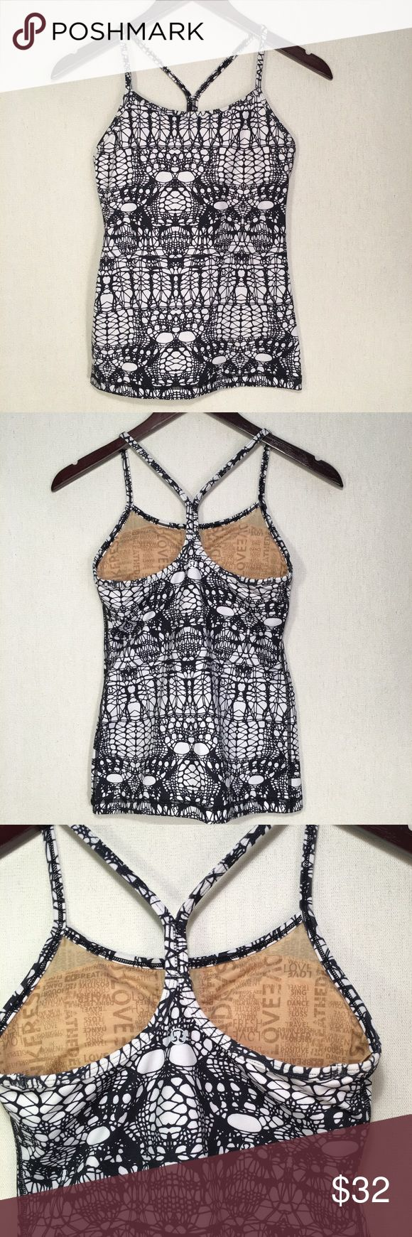"""Lululemon White Glacier Power T Tank 4 〰Excellent pre-owned condition! Bra inserts included                                                      〰Let me know if you have any questions 〰Accepting all reasonable offers made through the offer feature 〰Add any item/s to a bundle using the """"add to bundle feature"""" to get an additional private discount!🌵✨ lululemon athletica Tops Tank Tops"""
