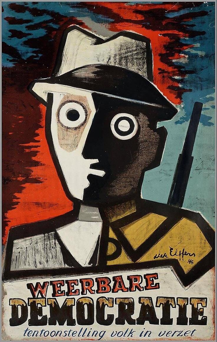 Defensible democracy. Exhibition People in Resistance (1946) | Dick Elffers