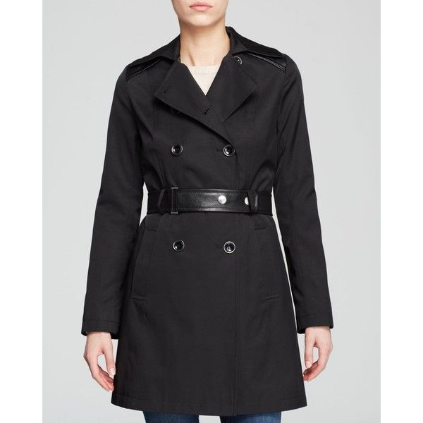 DKNY Zoe Mixed-Media Belted Trench Coat and other apparel, accessories and trends. Browse and shop related looks.
