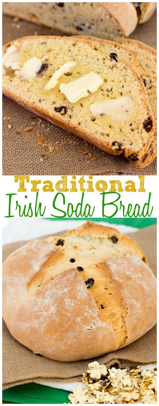 Traditional Irish Soda Bread. This bread is so delicious and the perfect addition to your St. Patty's Day spread!