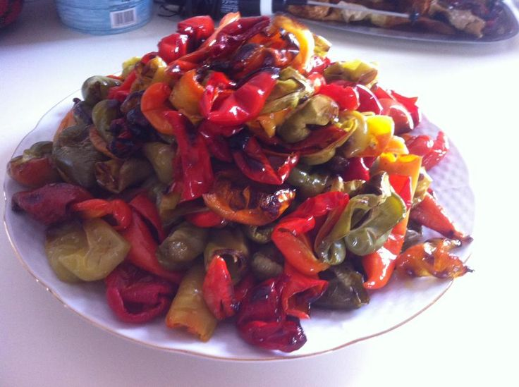 Mediterranean Roasted Tri-Color Bell Pepper