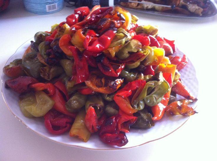 Mediterranean Roasted Tri-Color Bell Pepper