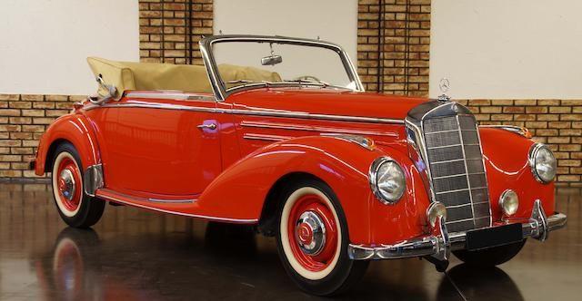 1952 MERCEDES-BENZ 220 CABRIOLET A €105,000 - 125,000 US$ 120,000 - 140,000 At auction - Bonhams