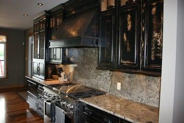 Copper exhaust hood with a rustic finish by Ridalco - kitchen hoods and vents - ottawa - ridalco