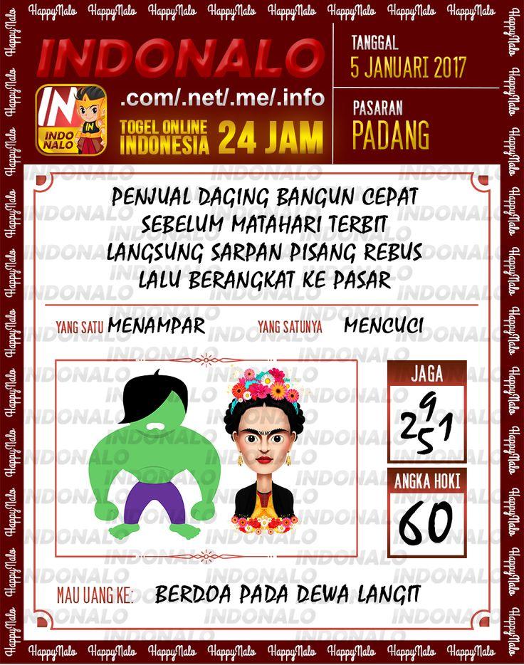 Kode Main 6D Togel Wap Online Live Draw 4D Indonalo Padang 5 Januari 2017