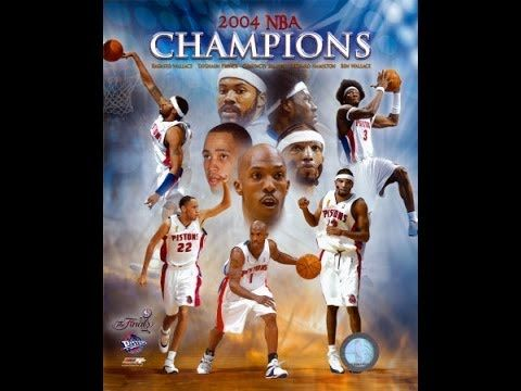 Detroit Pistons 2004 Championship Season (Full Movie)  The 2003-04 Detroit Pistons were able to finish 2nd overall in the Central Division, behind the Indiana Pacers. Led by new coach Larry Brown and boosted by the trade deadline acquisition of forward Rasheed Wallace, the Pistons advanced to the 2004 NBA Finals defeated the heavily favored Los Angeles Lakers in the four games to one, winning their third overall championship and first since 1990.