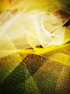 Diary of Rainbows: Lemonade, Limeade tulle, yellow, white