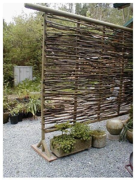 Veggy Trellis - would be easy to make something similar with willow limbs for the garden