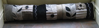 Patchwork draught excluder