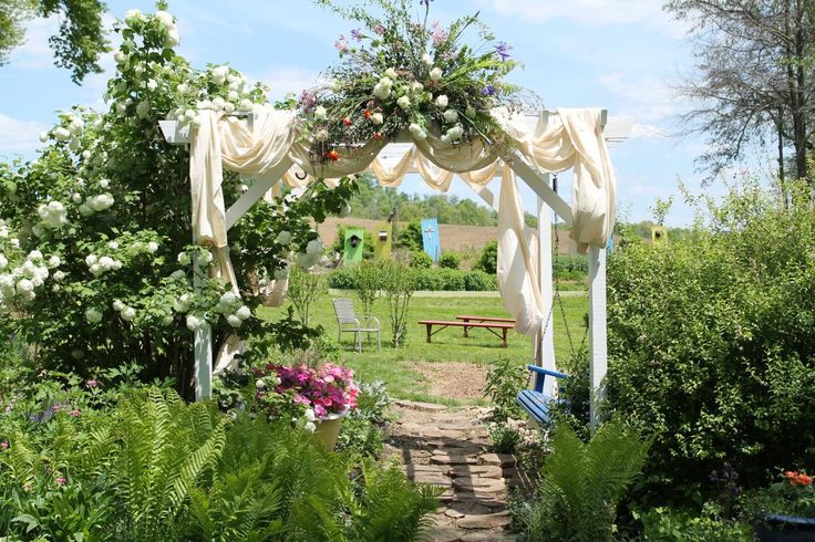 """Homemade Altar at Elizabeth """"Bitty"""" King's wedding. See more >> http://www.greatamericancountry.com/shows/farm-kings/farm-kings-wedding--pictures?soc=pinterest"""