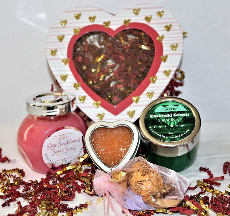 Valentinstagsgeschenk für Sie und Ihn – Natürliches Bio – Zuckerpeeling | Lippenpeeling | Galentinisch | Kostenlose Lieferung | Geschenkkorb | Schatz   – Sugar Scrubs For Man