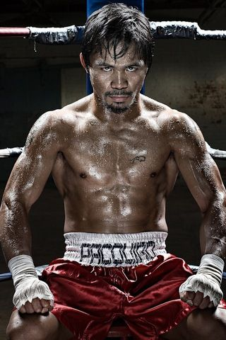 If you're a filipino you have to adore him. Filipino politician and professional boxer Manny Pacquiao. He is the first eight-division world champion; having won six world titles,[5] as well as the first to win the lineal championship in four different weight classes