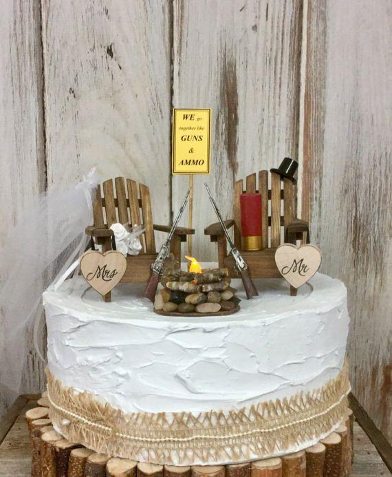 Deer Hunting Cake Topper Camp Gun And By Sugarplumcottage WeddingWedding ToppersGuns