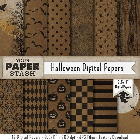 8 5x11 Halloween Printable Digital Background Paper Spooky Distressed Halloween Digital Paper Textured Halloween Digital Digital Scrapbook Paper Digital Paper