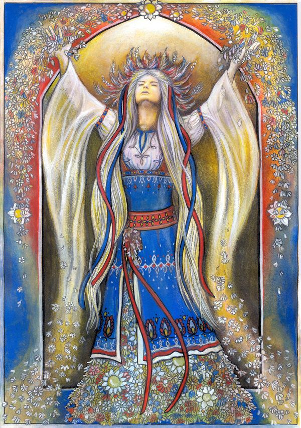 Thevesnaorvesnaswere mythological female characters associated with youth and springtime in earlySlavic mythology, particularly withinCroatia,SerbiaandSlovenia. Along with her male companion Vesnik, she was associated with rituals conducted in rural areas during springtime.
