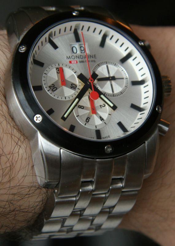 Mondaine Railway Sport Chrono II Ref. A690.30338.11SBM Watch Review Wrist Time Reviews