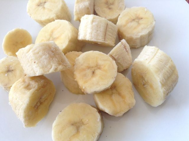 The Best Way to Freeze Bananas: Frozen banana chunks just the right size for blending into a smoothie
