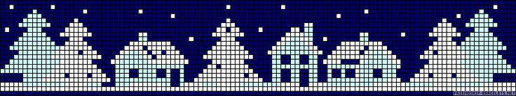 Free Winter Cross Stitch Pattern
