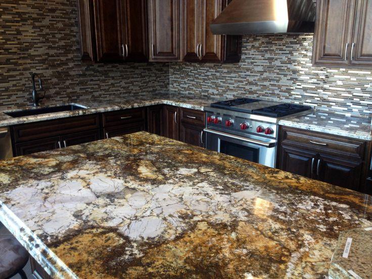 Mascarello On Kitchen Island Exotic Granite Slabs