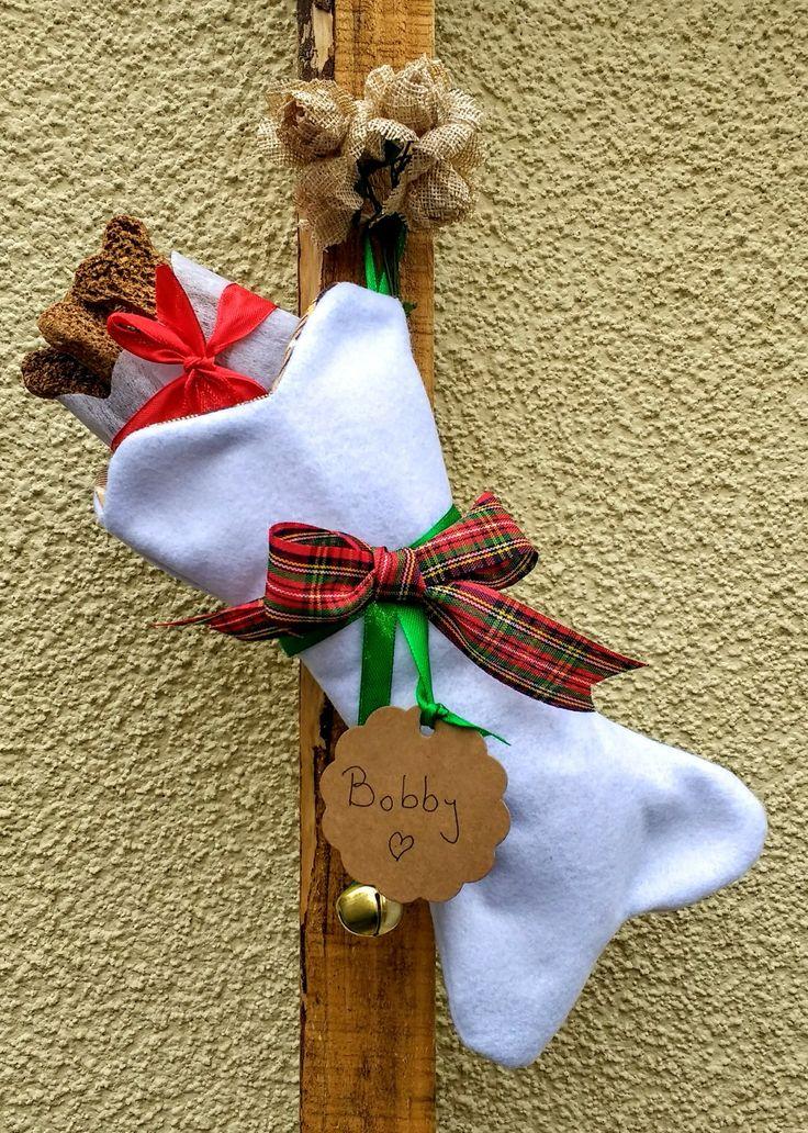 Huesitos Navideños para mascotas diseño Chicoca Deco #deconavida #navidaddeco #navidadparamascotas #botasnavideñasmascotas #botasnavideñas #catlovers #doglovers #dogchristmasstocking