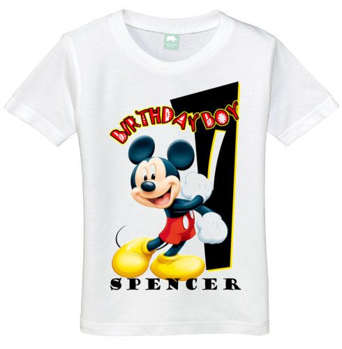 Boys 1 Year Old Mickey Mouse Birthday Boy 1st Tee Shirt