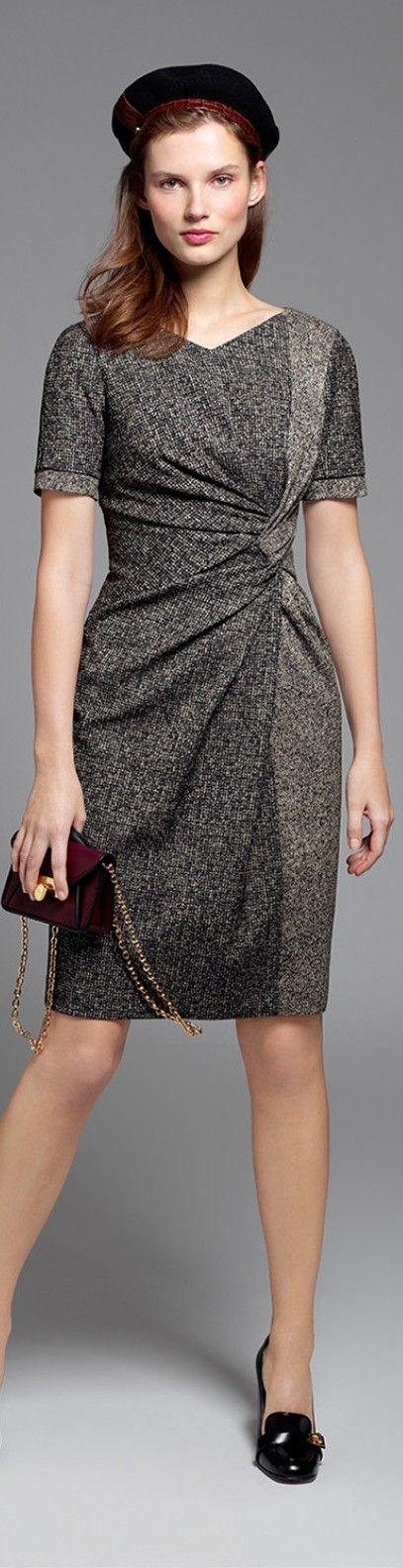 Paule Ka 2015/16 gray dress. Fall autumn women fashion outfit clothing stylish apparel @roressclothes closet ideas