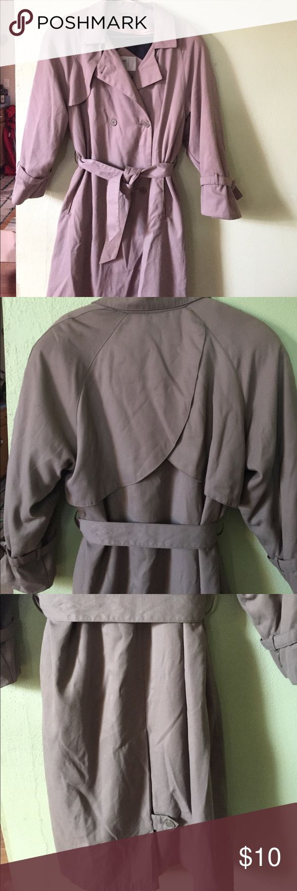Women's trench coat Women's petite trench coat with zip out liner by Amanda Smith size 10, in good condition. Jackets & Coats Trench Coats