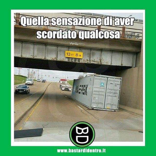 Quella sensazione di aver scordato qualcosa... #bastardidentro #tir #strada #ipn www.bastardidentro.it