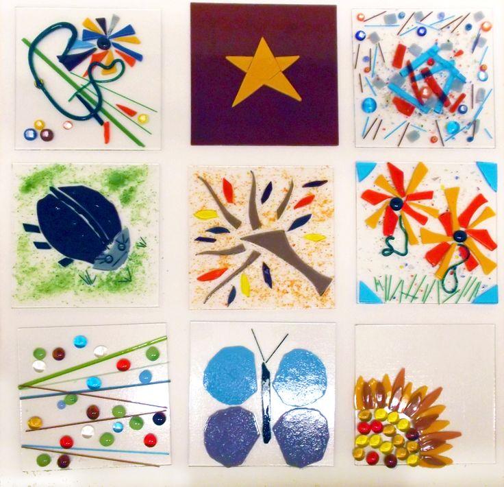 Glass Fusion Workshop (Decorative Plate) with Julie Ridley #communityart #glassart