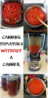 Spontaneously Creative: How to can tomatoes without a canner