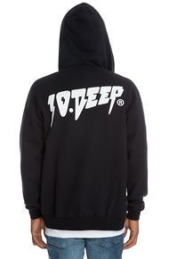 10 Deep The Sound & Fury Zip Hoodie in Black