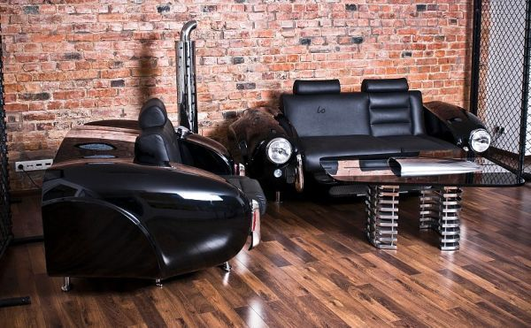La Design Studio, Poland Creates Auto Furniture Inspired by American Automobiles