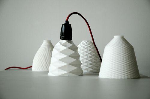3D printed lamp shades