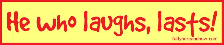 Why? Because laughter is by definition healthy – an instant vacation – inner jogging – the sun that drives winter from the human face – the first evidence of freedom. Laughter is the closest distance between two people – not…