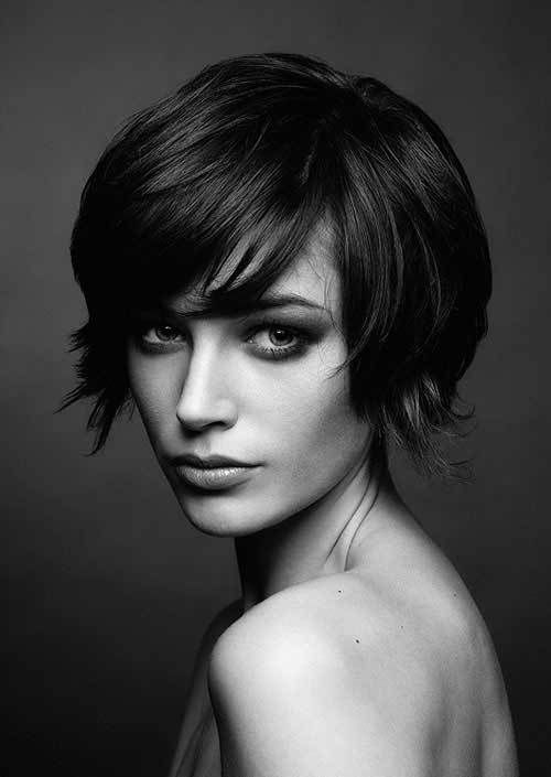 20 Sassy Long Pixie Hairstyles: #8. Pixie Cut with Bangs Hairstyle