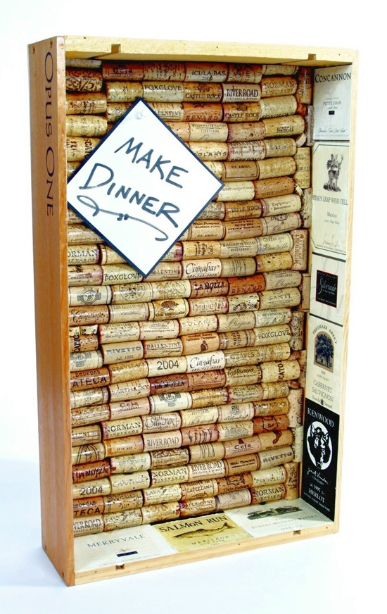 Cork board wine box very cool for the home pinterest for How to make a bulletin board without cork