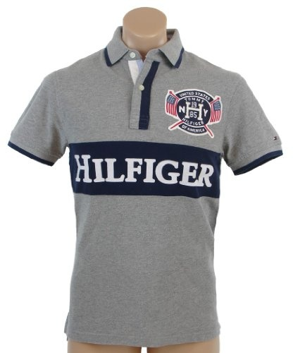 Tommy Hilfiger Mens Classic Fit Short Sleeve Logo Polo Shirt