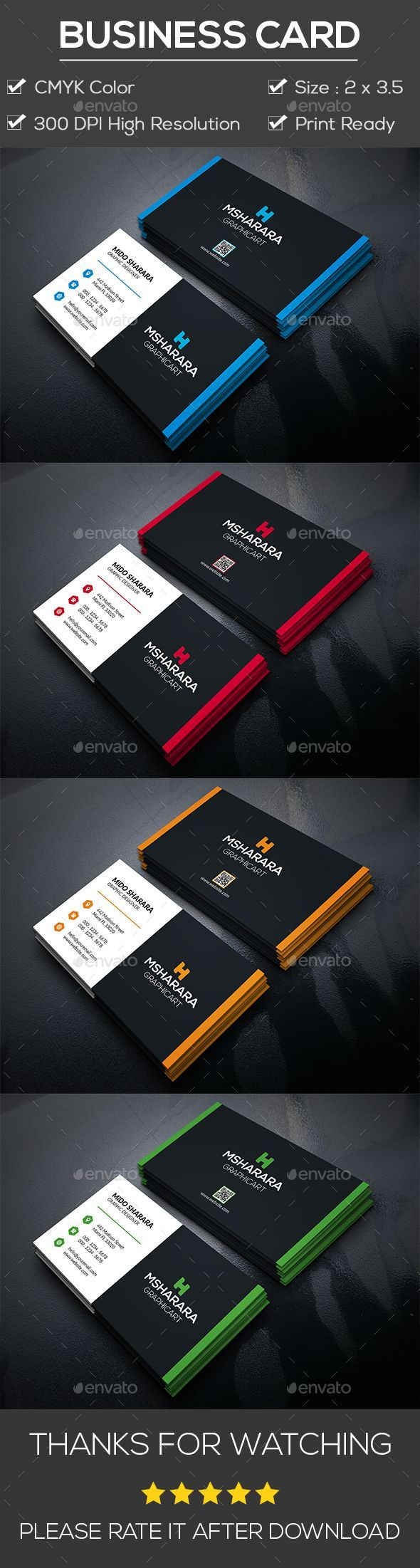45 best 2018\'s Corporate Business Card Template\'s images on ...