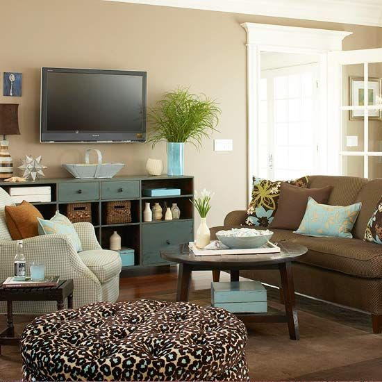 17 best images about decor aqua blue brown on - Brown and aqua living room pictures ...