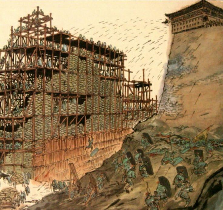 고구려-수나라 전쟁,요동성 전투 상상도 Goguryeo-Sui dynasty war,Yodong castle battle's impression   *출처(source): http://luckcrow.egloos.com/m/2567659