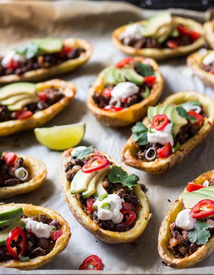 Vegan Mexican Potato Skins | If you adore vibrant Mexican flavors and crispy potato skins, you'll be craving this simple dish.