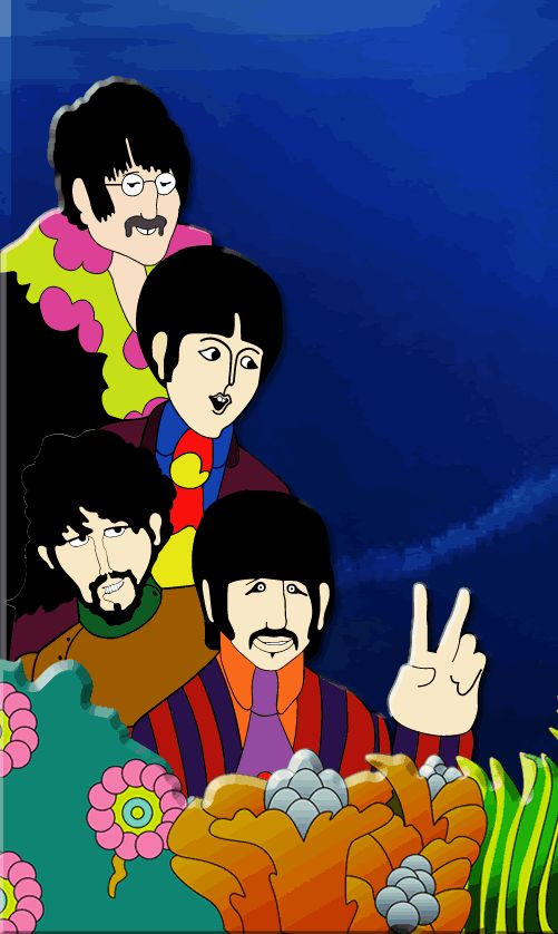 The Beatles Clip Art | Rabiscos: Yellow Submarine - Filme - DVD